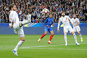 Kylian Mbappe (FRA), Gerard Pique (ESP), Dani Carvajal (ESP), Sergio Ramos (ESP) during the Friendly Game football match between France and Spain on March 28, 2017 at Stade de France in Saint-Denis, France - Photo Stephane Allaman / ProSportsImages / DPPI