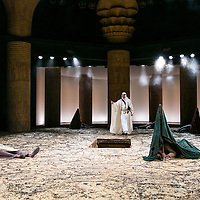 Ross by Terrance Rattigan<br /> Directed by Adrian Noble<br /> Joseph Fiennes as T.E. Lawrence<br /> Eben Figueiredo as Rashid<br /> Chichester Festival Theatre, Chichester<br /> 7 June 2016