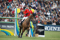 Guerdat Steve, (SUI), Nino Des Buissonnets<br /> Furusiyya FEI Nations Cup presented by Longines<br /> Longines Jumping International de La Baule 2015<br /> © Hippo Foto - Dirk Caremans<br /> 15/05/15