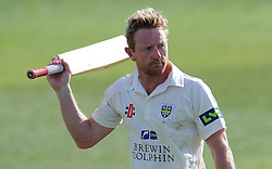 Durham's Paul Collingwood- Photo mandatory by-line: Harry Trump/JMP - Mobile: 07966 386802 - 13/04/15 - SPORT - CRICKET - LVCC County Championship - Day 2 - Somerset v Durham - The County Ground, Taunton, England.