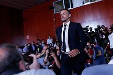 Spain coach Luis Enrique meets media, 19 July 2018
