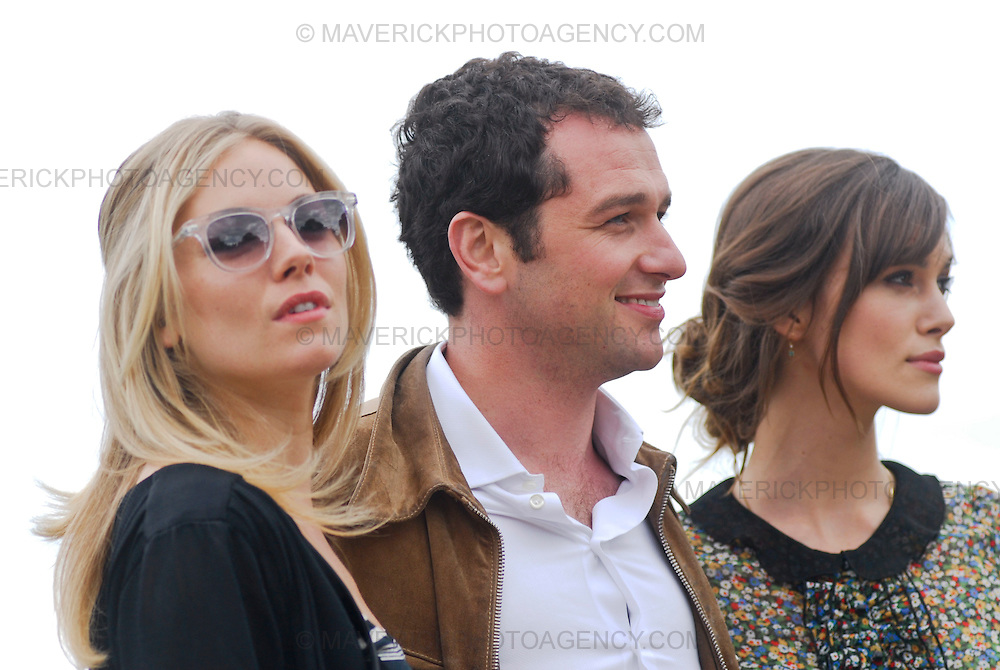 Keira Knightley, Sienna Miller and Matthew Rhys, the cast of 'The Edge of Love' which premiers tonight in Edinburgh join together at Edinburgh Castle.  The film paints an extraordinary portrait of Dylan Thomas (played by Matthew Rhys) and the women is his life Caitlin MacNamara (Sienna Miller) and Vera Phillips (Keira Knightley).  Four lives are thrust together with heart breaking results in an intimate tale of sex and betrayal in war-torn Britain.