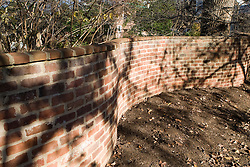Jefferson's serpentine walls on The Grounds of the University of Virginia, Charlottesville, VA - November 27, 2007.