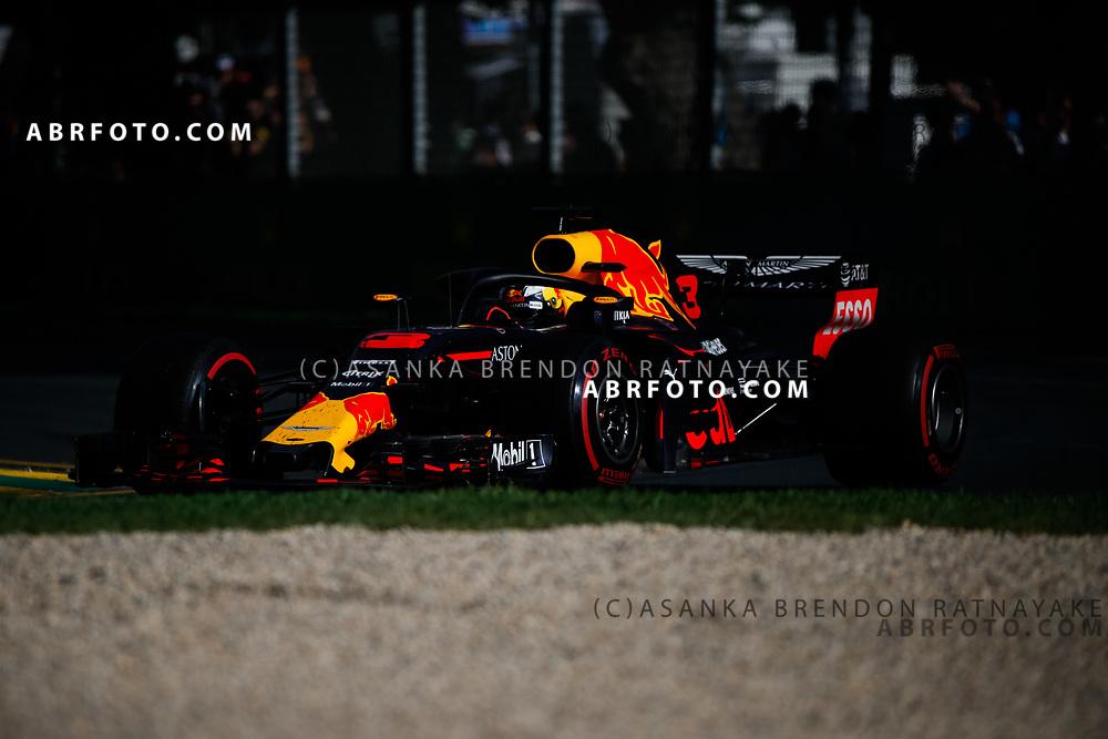 Red Bull driver Daniel Ricciardo of Australia during the 2018 Rolex Formula 1 Australian Grand Prix at Albert Park, Melbourne, Australia, March 24, 2018.  Asanka Brendon Ratnayake