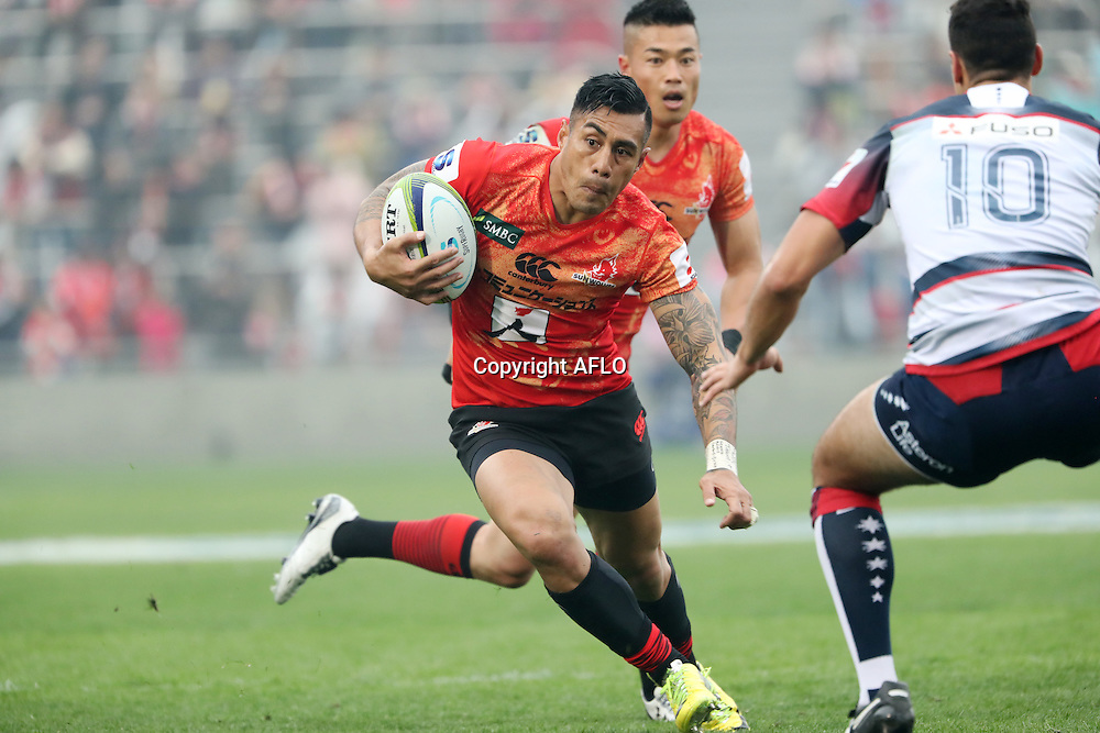 Tusi Pisi (Sunwolves),<br /> MARCH 19, 2016 - Rugby : Super Rugby match between Sunwolves 9-35 Melbourne Rebels at Prince Chichibu Memorial Stadium in Tokyo, Japan. (Photo by AFLO)