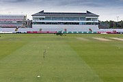 The media centre before Day 4 of the Specsavers County Champ Div 2 match between Durham County Cricket Club and Leicestershire County Cricket Club at the Emirates Durham ICG Ground, Chester-le-Street, United Kingdom on 21 August 2019.