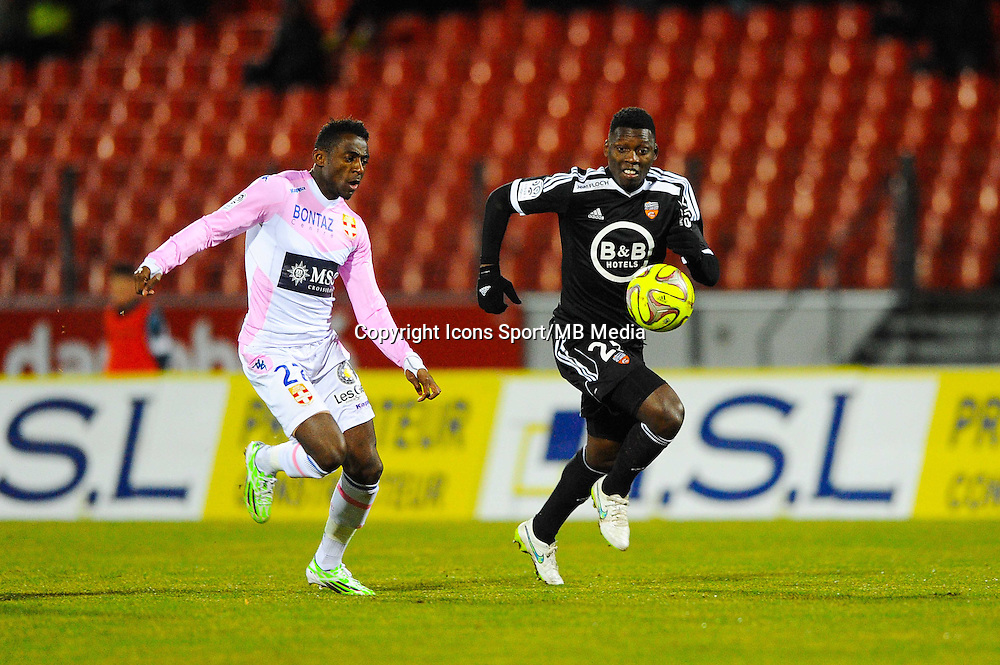 Lamine GASSAMA  - 04.03.2015 - Evian Thonon / Lorient - Match en retard de la 26eme journee de Ligue 1 <br />
