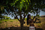 Xerente tribesmen  in the village of Tocantinia, Brazil, Thursday, 02, 2015. (Hilaea Media/ Dado Galdieri)