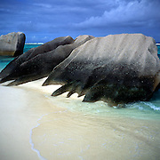 Granite rocks, Point Source d'Argent beach, La Digue, Seychelles