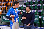 Giacomo Devecchi, Alessandro Magro<br /> Banco di Sardegna Dinamo Sassari - Germani Basket Leonessa Brescia<br /> Legabasket Serie A LBA PosteMobile 2017/2018<br /> Sassari, 08/04/2018<br /> Foto L.Canu / Ciamillo-Castoria