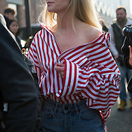 Red and White Striped Shirt, Outside Gucci FW2017