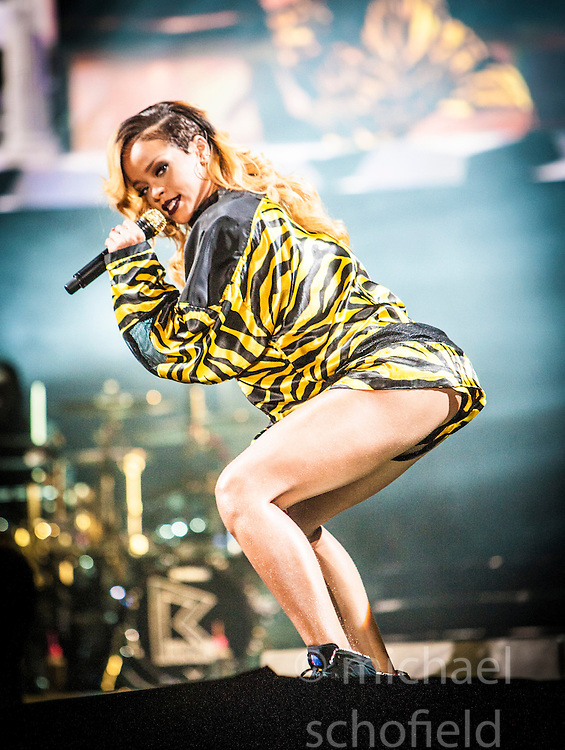 Rihanna headlines the main stage on Saturday, T in the Park 2013.<br /> &copy;Michael Schofield.