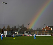 Rainbow over Ochilview - Harvester v Fairfield - Fosters Scottish Sunday Trophy semi final<br /> <br />  - &copy; David Young - www.davidyoungphoto.co.uk - email: davidyoungphoto@gmail.com