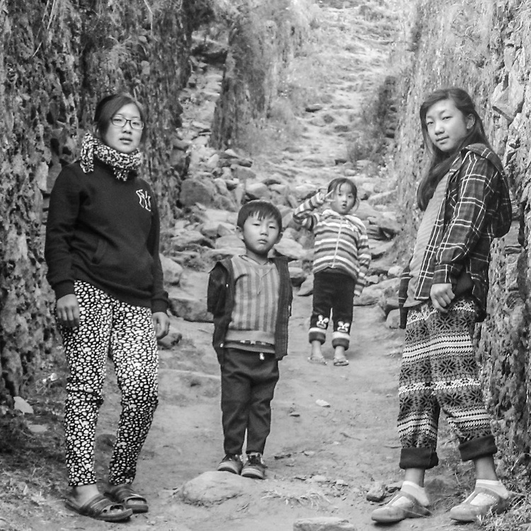 The Lane, Bhutan by Tenzin Choki.<br /> <br /> Tenzin Choki a female photographer on our program in Bhutan.