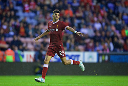 WIGAN, ENGLAND - Friday, July 14, 2017: Liverpool's Dominic Solanke in action against Wigan Athletic during a preseason friendly match at the DW Stadium. (Pic by David Rawcliffe/Propaganda)