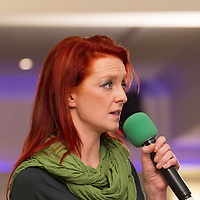 Niamh O'Brien, of the Fís Nua Party in Clare, speaking at the People's Debate with Vincent Browne at the Auburn Lodge Hotel on Friday 16th January