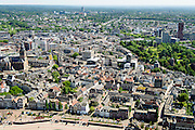 Nederland, Gelderland, Nijmegen, 09-06-2016; binnenstad Nijmegen, de Benedenstad met Waalkade.<br /> <br /> Town of Nijmegen, inner city.<br /> luchtfoto (toeslag op standard tarieven);<br /> aerial photo (additional fee required);<br /> copyright foto/photo Siebe Swart