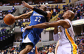 NBA-Indiana Pacers vs Minnesota Timberwolves-Indianapolis, IN