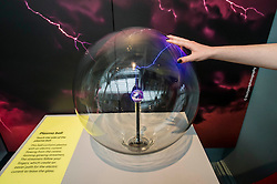 Pictured: The Plasma ball reactes to contact<br /> <br /> The National Museum of Scotland will launch ten new galleries on 8 July following a £14.1 million redevelopment in their 150th year.  <br /> <br /> Ger Harley | EEm 5 July 2016