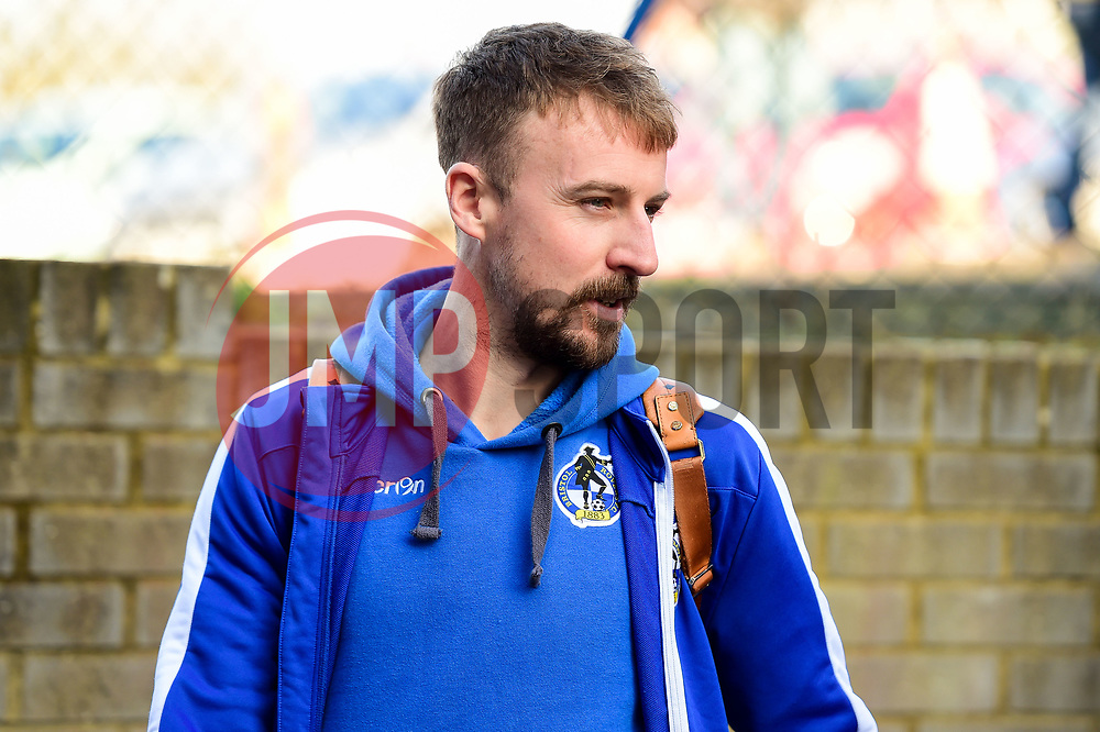 Chris Lines of Bristol Rovers arrives at Roots Hall prior to kick off - Mandatory by-line: Ryan Hiscott/JMP - 02/02/2019 - FOOTBALL - Roots Hall - Southend-on-Sea, England - Southend United v Bristol Rovers - Sky Bet League One
