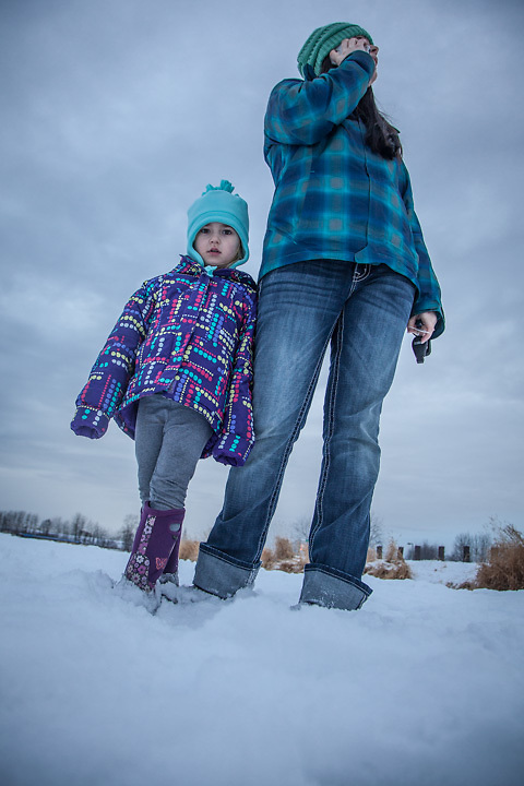 "Dana Billman with her dauther, Tatum, at Westchester Lagoon, Anchorage.   ""I'm not sure what I want to be when I grow up.  I have two kids and maybe I will go to school some day.""  -Dana Billman"