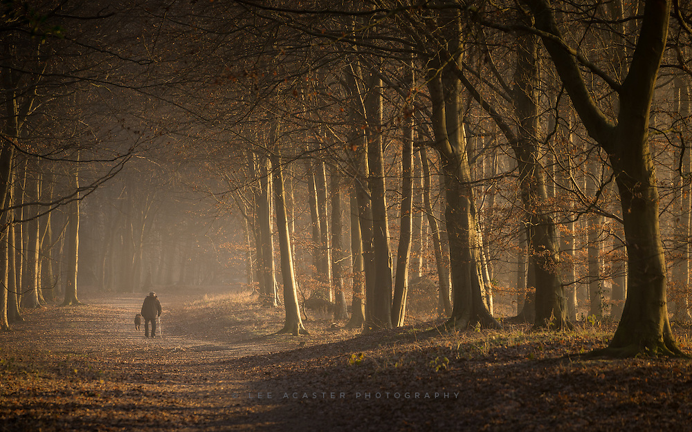 A few minutes of nice light yesterday morning, and a very rare commodity, a person in one of my images!