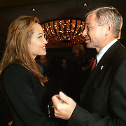 Manhattan, NY, USA, September 17th 2005:  The Prime Minister of Norway, Kjell Magne Bondevik during a panel discussion at the inauguration meeting of the Clinton Global Initiative.<br /> <br /> Bondevik meet Angelina Jolie. <br /> <br /> Photo: Orjan F: Ellingvag/ Dagbladet *** Local Caption ***