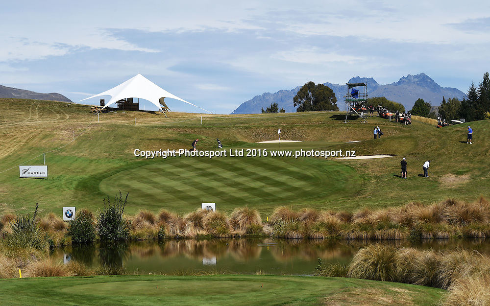 General view at The Hills golf course in Arrowtown ahead of this week's 2016 BMW ISPS Handa New Zealand Open. Wednesday 9 March 2016. Copyright photo: Andrew Cornaga / www.photosport.nz