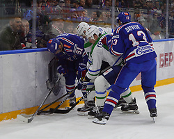 October 13, 2017 - Saint-Petersburg, Russia - Of The Russian Federation. Saint-Petersburg. Hockey. HC SKA HC Salavat Yulaev. The championship match of the Continental hockey League 2017/2018. The player of hockey club SKA Pavel Datsyuk. (Credit Image: © Russian Look via ZUMA Wire)