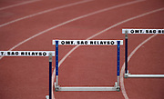 Apr 19, 2019; Torrance, CA, USA; General overall view of the hurdles during the 61st Mt. San Antonio College Relays at El Camino College.