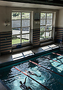 Trivero, Fondazione Zegna. the public swimmingpool.     Fondazione Zegna was set up on 1st December 2000 by the Zegna Family.<br /> <br /> Its mission is to give continuity to the values, philosophy and work of Ermenegildo Zegna, who in 1910 in Trivero, in the Biella Alps, founded the wool mill that carries his name to this day. Following his example, quality and dedication may live in harmony with protection of our natural environment, social wellbeing and the cultural development of the local community.<br /> <br /> Fondazione Zegna is based in Trivero, where Casa Zegna, an historical archive and cultural center, and Oasi Zegna, an &quot;open-air laboratory&quot; covering over 100 km2 and focusing on relationships between people, mountain culture and nature, are also situated.<br /> <br /> As the Zegna Group grows, the Foundation plans and coordinates international humanitarian initiatives in four areas of activity:<br /> - conservation and amelioration of environmental and cultural resources;<br /> - fostering of sustainable development in local communities, in Italy and beyond;<br /> - support for medical and scientific research;<br /> - education and training for young people.