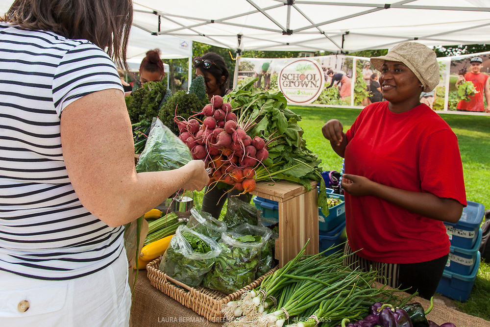 FoodShare's 'School Grown' stand at the East Lynn Farmers' Market
