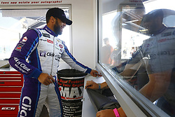 March 2, 2018 - Las Vegas, Nevada, United States of America - March 02, 2018 - Las Vegas, Nevada, USA: Darrell Wallace Jr (43) signs autograph for fans during practice for the Pennzoil 400 at Las Vegas Motor Speedway in Las Vegas, Nevada. (Credit Image: © Chris Owens Asp Inc/ASP via ZUMA Wire)