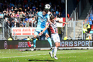01-05-2016 VOETBAL:WILLEM II - FEYENOORDTILBURG<br /> Jordens Peters van Willem II in duel met Eric Botteghin van Feyenoord <br /> <br /> <br /> Foto: Geert van Erven