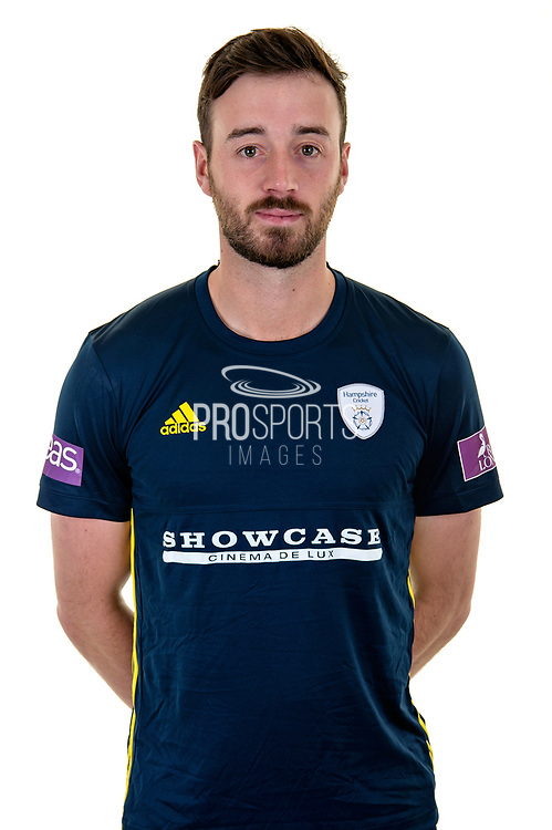 James Vince of Hampshire in Royal London One Day Cup kit  during the Hampshire County Cricket Club Media Day at the Ageas Bowl, Southampton, United Kingdom on 10 April 2018. Picture by Dave Vokes.