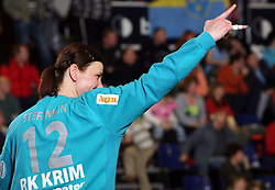 Goalkeeper of Krim Sergeja Stefanisin at handball game ZRK Celje Celjske Mesnine vs RK Krim Mercator in final match of Slovenian Handball Cup,  on April 6, 2008 in Arena Golovec, Celje, Slovenia. Krim won the game 31:21 and became Cup Winner.  (Photo by Vid Ponikvar / Sportal Images)