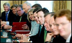 The first Cabinet meeting inside the Cabinet room in No10, Thursday May 13, 2010. Photo By Andrew Parsons/i-Images