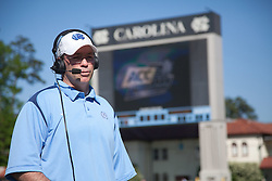 26 April 2009: North Carolina Tar Heels head coach Joe Breschi during a 15-13 loss to the Duke Blue Devils during the ACC Championship at Kenan Stadium in Chapel Hill, NC.