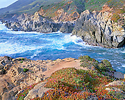 Breaking waves at Big Sur CA.