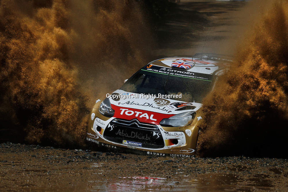 14.09.2014. Coffs Harbour, NSW, Australia.  Kris Meeke (IRL) / Paul Nagle (GB) - Citroen DS3 WRC in a 4th placed finish