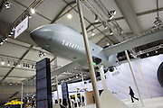 A scaled model exhibit of Talarion at the EADS hospitality stand at the Farnborough Airshow. ..Talarion is an advanced twin-jet unmanned air vehicle (UAV) system developed by EADS to meet the requirements of France, Germany and Spain for a fully autonomous Intelligence, Surveillance, Target Acquisition and Reconnaissance (ISTAR) airborne platform.