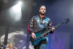 May 25, 2018 - Napa, California, U.S - CHRIS WOLSTENHOLME of Muse during BottleRock Music Festival at Napa Valley Expo in Napa, California (Credit Image: © Daniel DeSlover via ZUMA Wire)