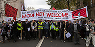 12 Nov 2015 - Downing Street protest against Indian Prime Minister.