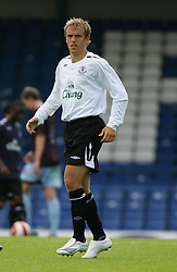 Bury, England - Saturday, July 7, 2007: Everton's Gary Neville in action against Bury during a pre-season friendly at Gigg Lane. (Photo by Dave Kendall/Propaganda)