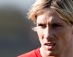 10.03.2010, Melwood Training Ground, Liverpool, ENG, UEFA EL, Liverpool FC Training, im Bild Liverpool's Fernando Torres, EXPA Pictures © 2010, PhotoCredit: EXPA/ Propaganda/ D. Rawcliffe / for Slovenia SPORTIDA PHOTO AGENCY.