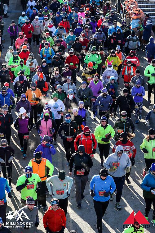 Millinocket Marathon and Half<br /> half marathon start