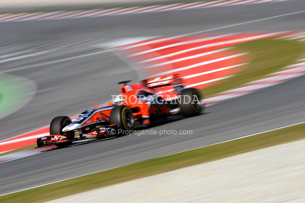 18.02.2011, Circuit de Catalunya, Barcelona, ESP, Formel 1 Test 3 2011,  im Bild Jerome d'Ambrosio (BEL) Virgin RacingEXPA Pictures © 2011, PhotoCredit: EXPA/ nph/  Dieter Mathis       ****** out of GER / SWE / CRO  / BEL ******