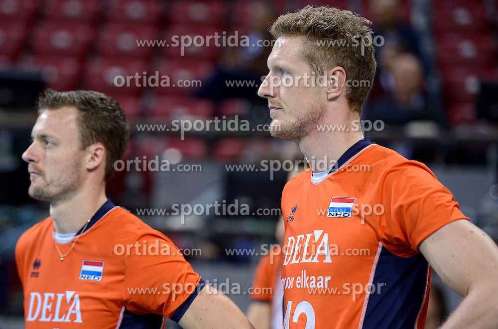 Kay van Dijk #12 during volleyball match between National teams of Netherlands and Slovenia in Playoff of 2015 CEV Volleyball European Championship - Men, on October 13, 2015 in Arena Armeec, Sofia, Bulgaria. Photo by Ronald Hoogendoorn / Sportida