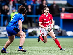 Robyn Wilkins of Wales<br /> <br /> Photographer Simon King/Replay Images<br /> <br /> Six Nations Round 1 - Wales Women v Italy Women - Saturday 2nd February 2020 - Cardiff Arms Park - Cardiff<br /> <br /> World Copyright © Replay Images . All rights reserved. info@replayimages.co.uk - http://replayimages.co.uk