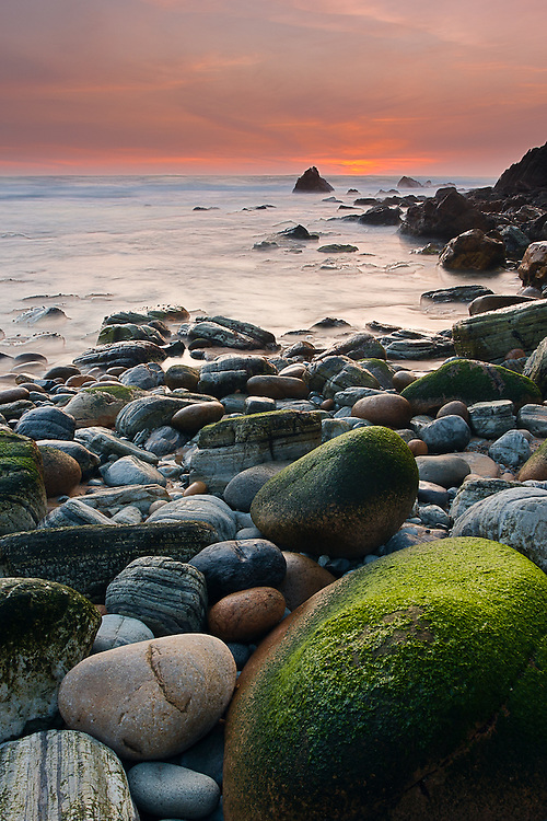 Grota Beach, near Roca Cape, is littered with rocks of all shapes and sizes.